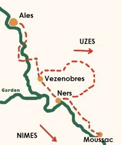 Garrigues Trails map
