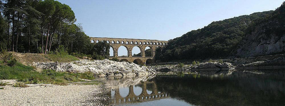 Pont Du Gard From A Distance