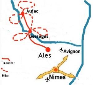 Walking Cèzarenque Map