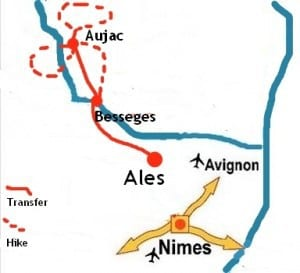 Hiking The Upper Cèze Valley - Map