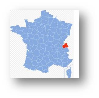 Graphic Of Location Of Haute Savoie In France