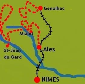 Walking in Cevennes map