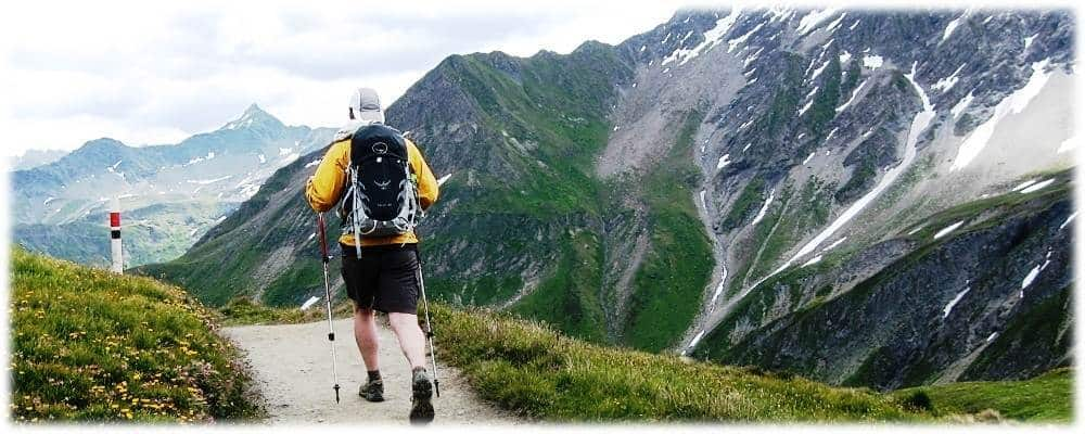 hiker on the swiss alpage - Description of walking the TMB - northern half