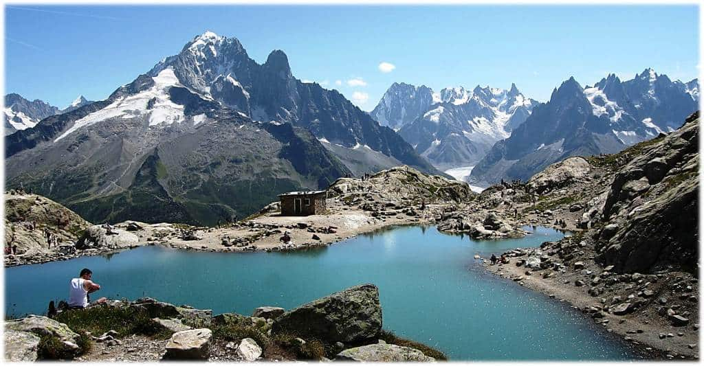 Lac Blanc - Description of walking the TMB - the northern half