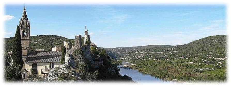 Walking in Provence - Aigueze on the Ardeche Gorge