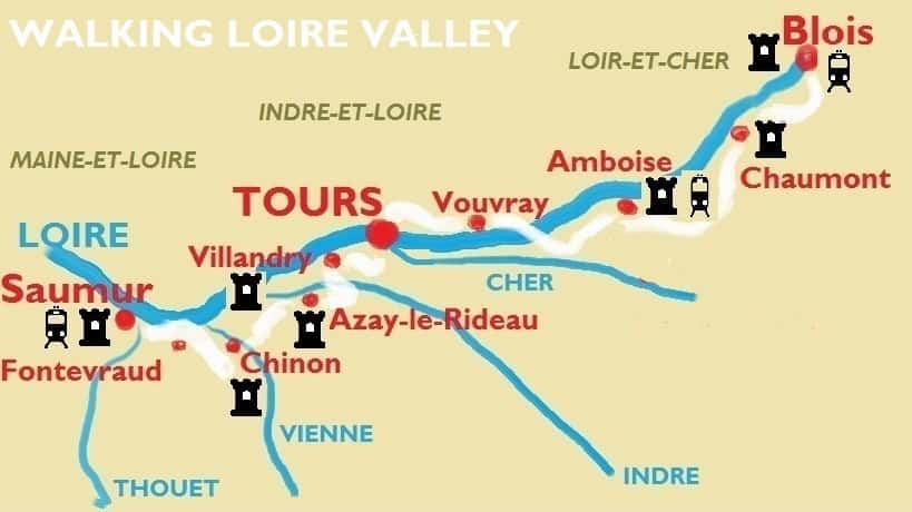 Walking Loire Valley Map