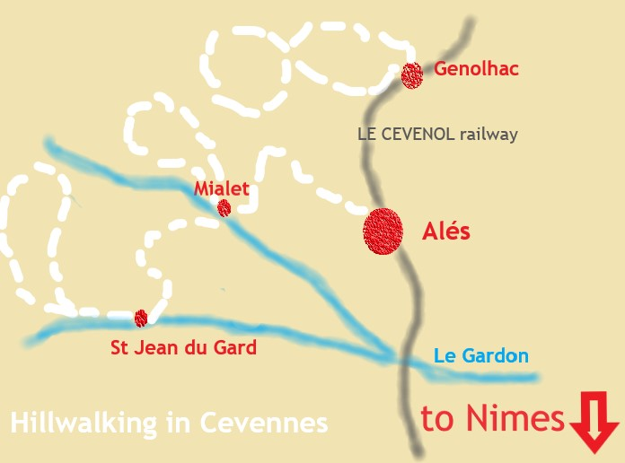 Walking In Cevennes Map