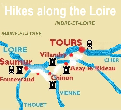 Hikes Along The Loire Map