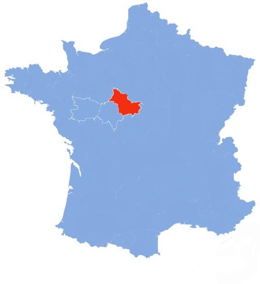 Taste Of Loire Hiking Departments Map