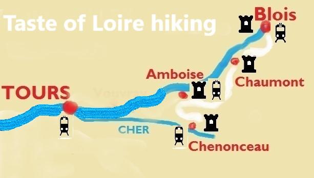 Taste of Loire hiking map