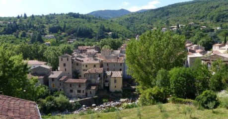 The village of Aulas from above