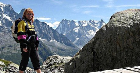 Self-Guided Walking Tours In France:taste Of Hiking Mont Blanc: Switzerland To France - Woman On Bridge