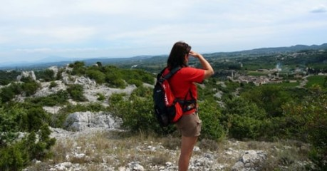 Walking In France Near Nimes In The Garrigue