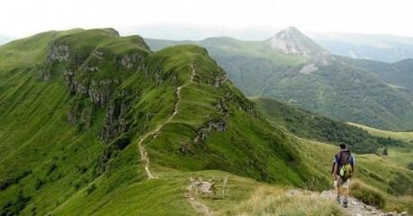 Walking In Cantal - Man Eyeing Breche Roland