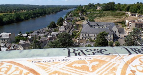 River Vienne From Chinon Castle: Hiking The Loire Valley Gr3 Trail