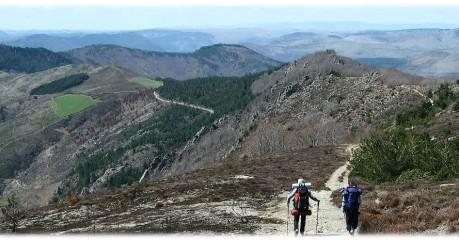 Trekking in France across the atlantic-mediterranean watershed